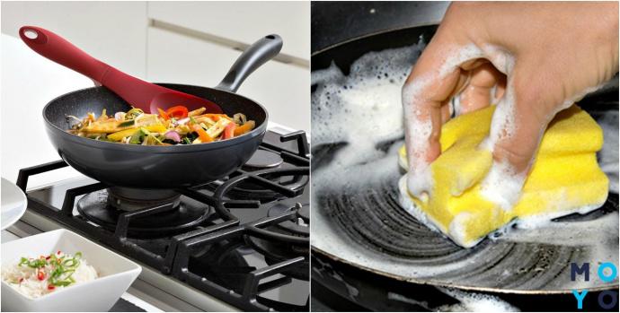 Уход за сковородками с каменным покрытием