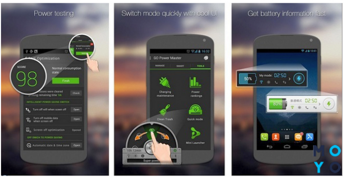 Программа для экономии энергии смартфона GO Battery Saver
