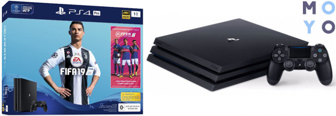 PlayStation 4 Pro 1Tb Black + FIFA 19