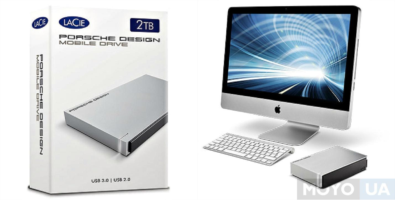"LaCie Porsche Design Mobile Drive for Mac 2TB STET1000400 2.5"" USB 3.0 light-grey"