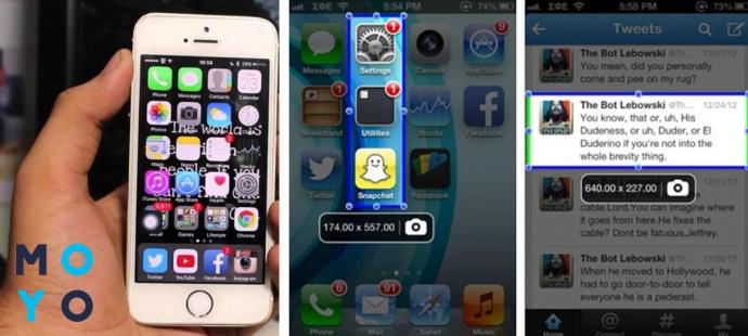 Скриншот на iPhone через ScreenshotPlus