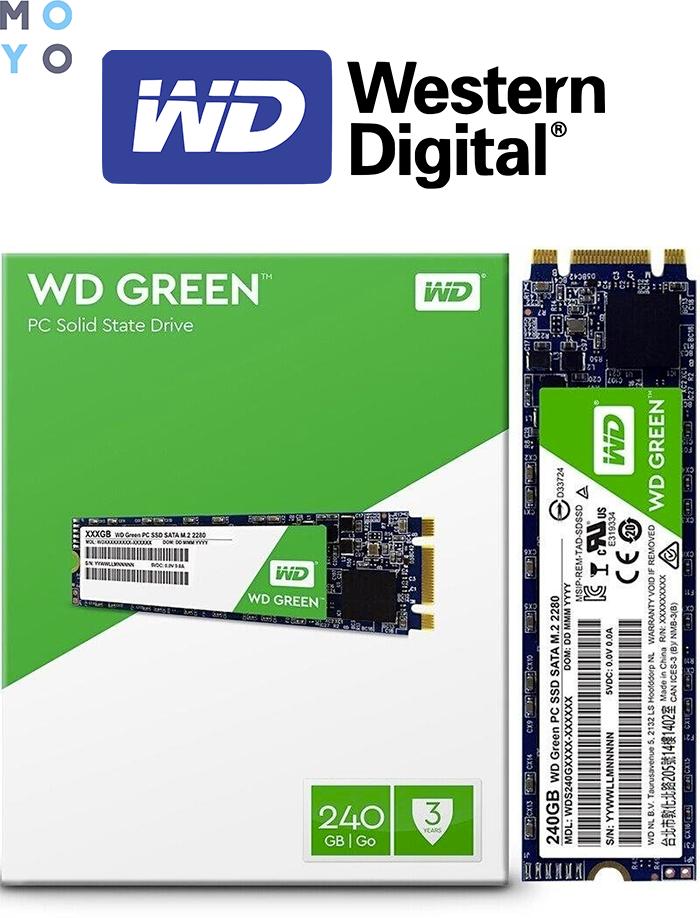 SSD диск WESTERN DIGITAL WDS240G2G0B