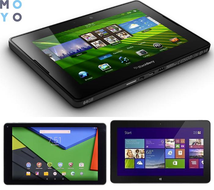 планшеты на Android, BlackBerry и Windows