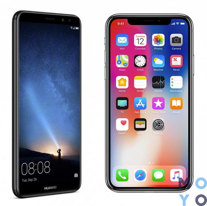 крутые смартфоны для выпускника Huawei Mate 10 и Apple iPhone X