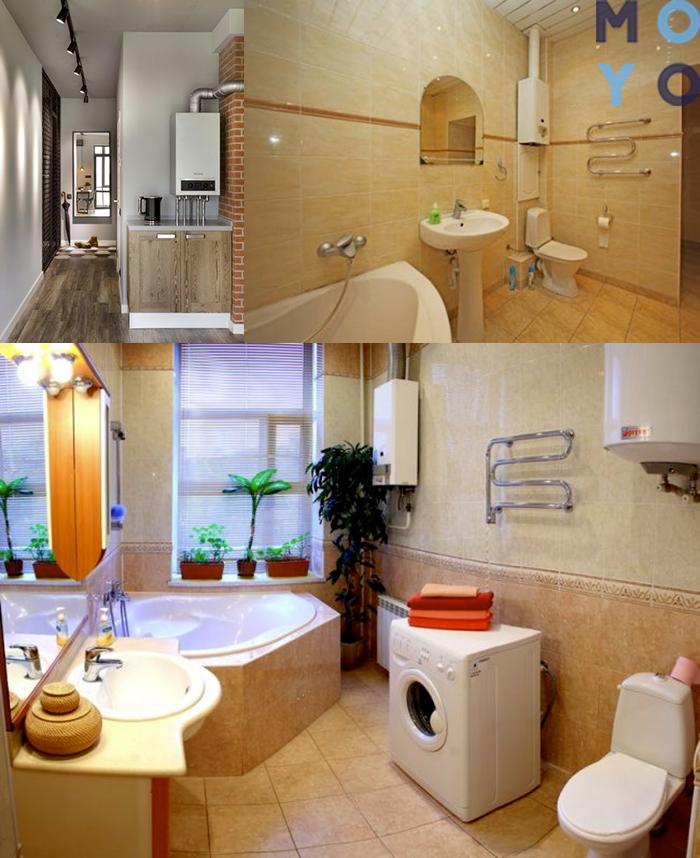 Как спрятать колонку в ванной