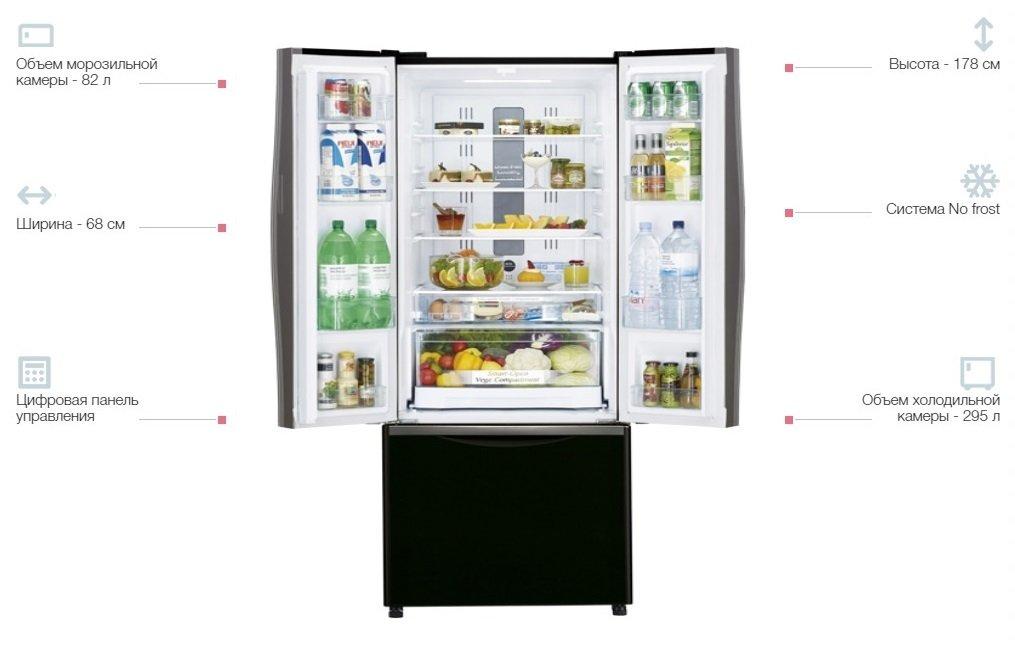 Холодильник Hitachi R-WB480PUC2GBKфото3
