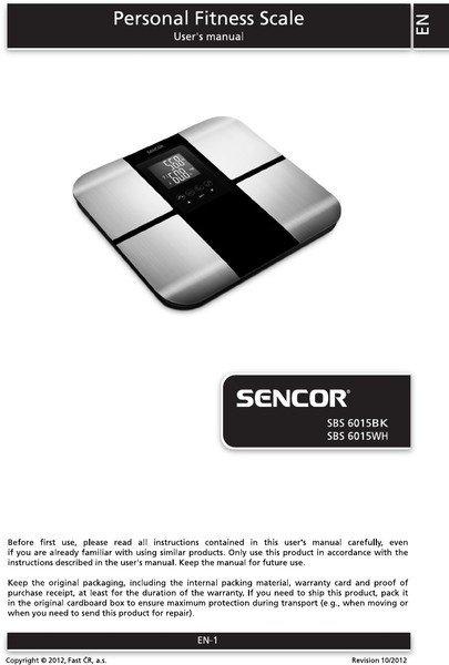 Весы напольные Sencor SBS6015BK фото 2