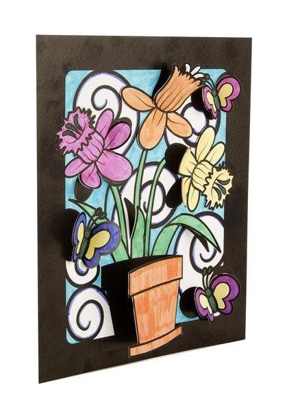 "3-D раскраска Melissa&Doug ""Цветы и бабочки"" (MD5282 ..."