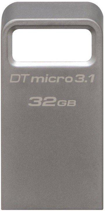 Накопичувач USB 3.1 KINGSTON DT Micro 32GB Metal Silver (DTMC3/32GB) фото2