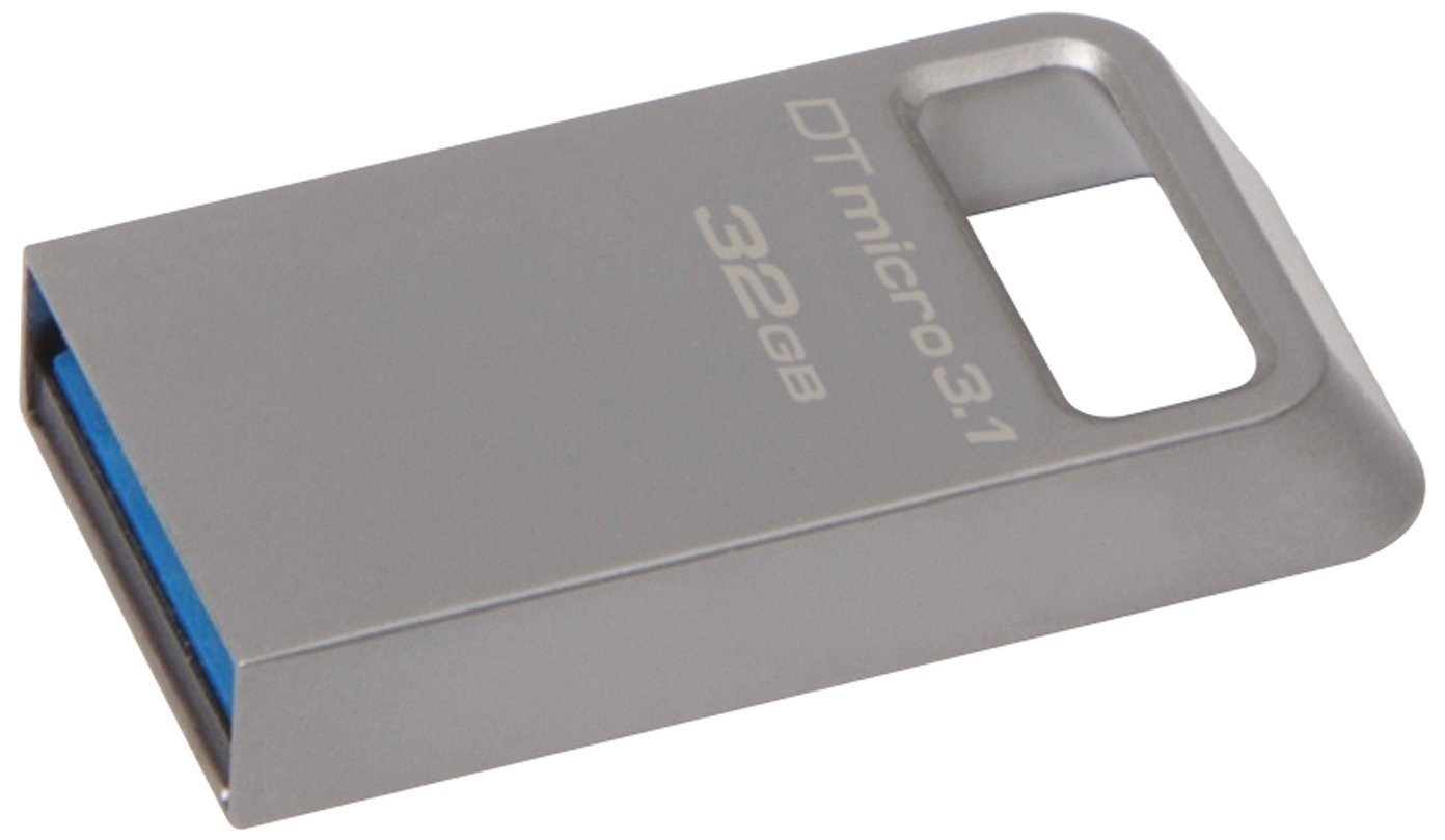 Накопичувач USB 3.1 KINGSTON DT Micro 32GB Metal Silver (DTMC3/32GB) фото4