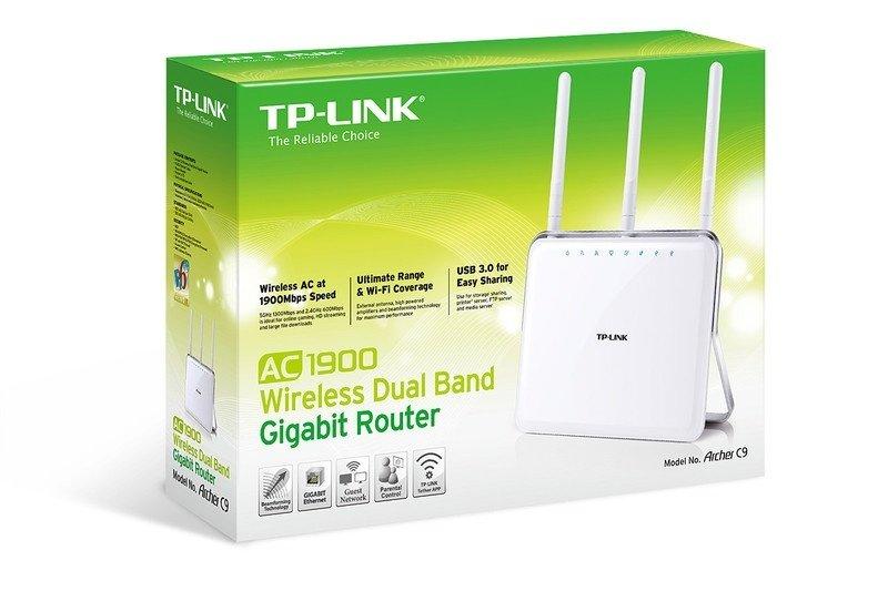 ≡ Роутер TP-Link Archer C9 AC1900 Dual Band, Gigabit, 1xUSB