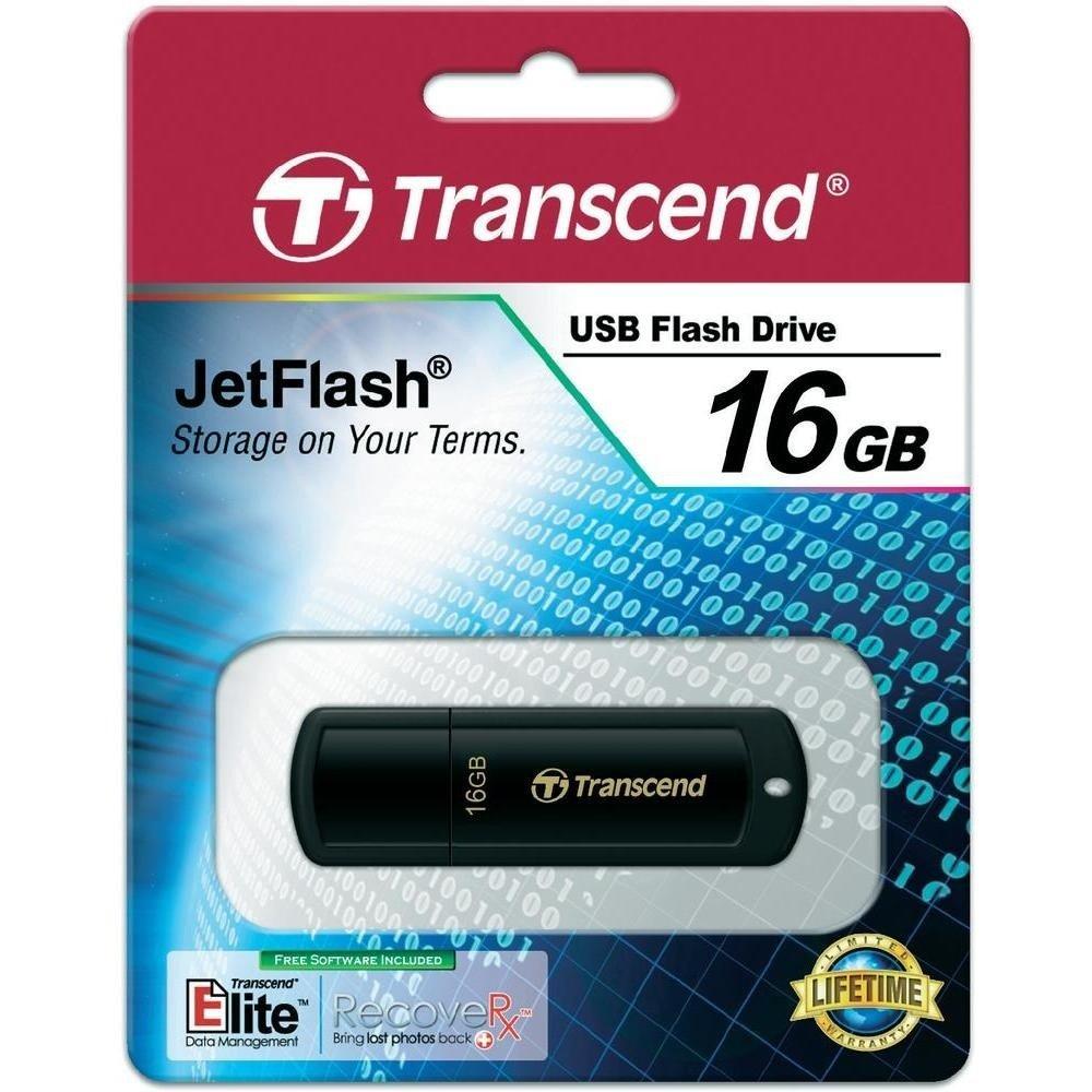 Накопичувач USB 2.0 TRANSCEND JetFlash 350 16GB (TS16GJF350) фото