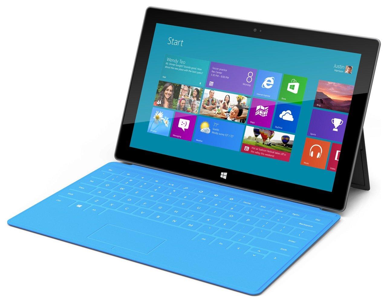 Клавіатура Microsoft Touch Cover для планшета Surface, (Blue) фото2