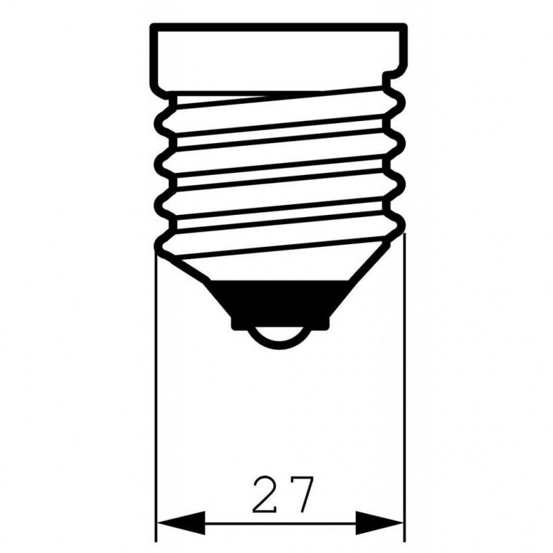 Лампа накаливания Philips E27 40W 230V B35 FR 1CT/10X10F Stan (921492144218) фото 2
