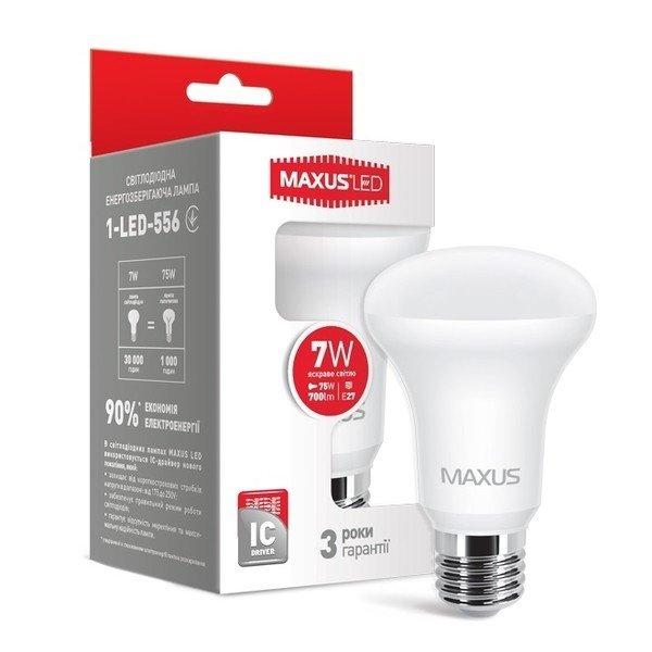 Светодиодная лампа MAXUS R63 7W 4100K 220V E27 (1-LED-556) фото 2