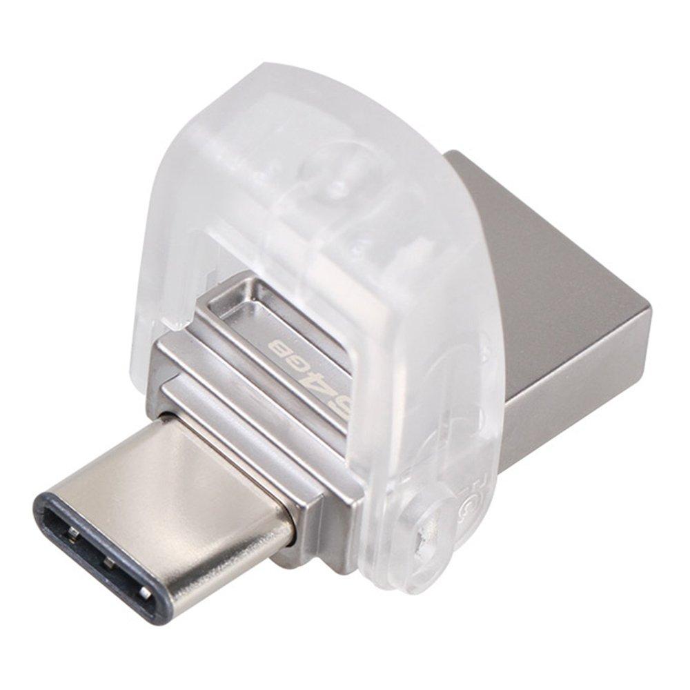 Накопичувач USB 3.1 KINGSTON Type-CDT Micro 64GB Metal Silver (DTDUO3C/64GB) фото2