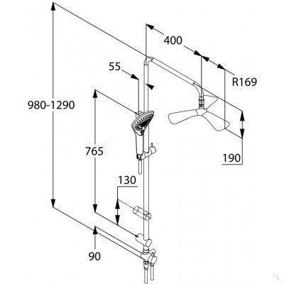 Душовий набір Kludi Dual Shower System Fizz (670930500)фото2