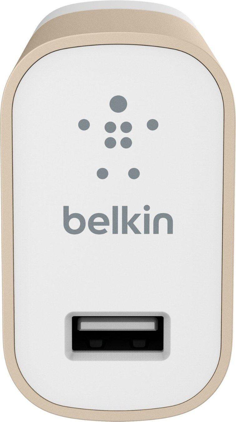 Мережевий зарядний пристрій Belkin Mixit Premium 2.4A Goldфото