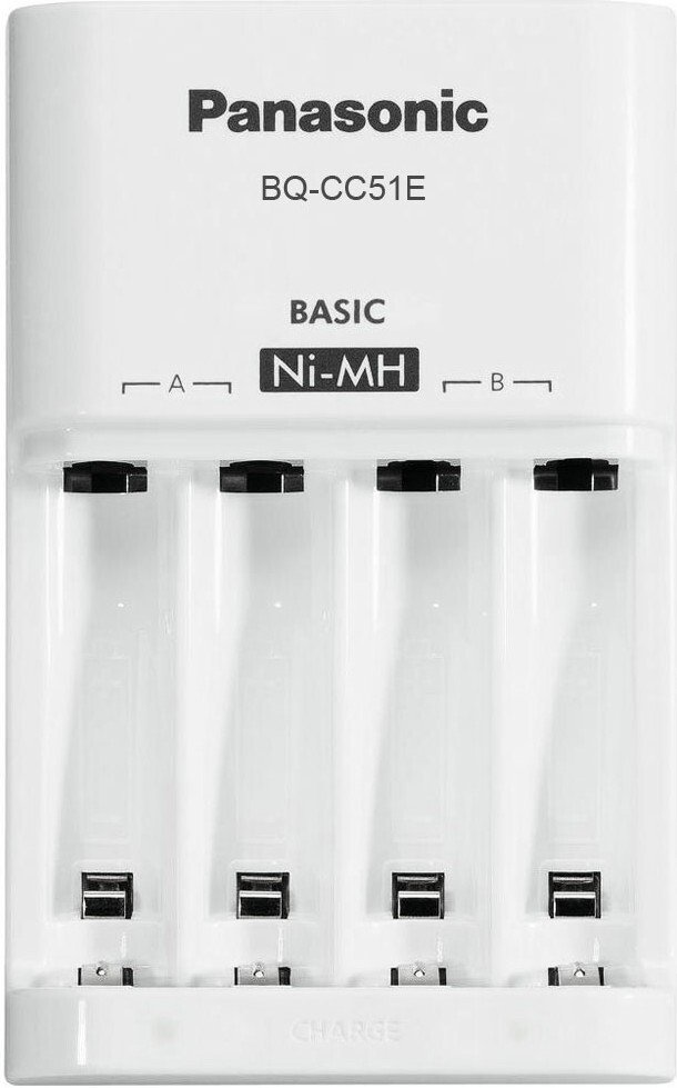 Зарядний пристрій Panasonic Basic Charger + Eneloop 4AAA 750 mAh Newфото