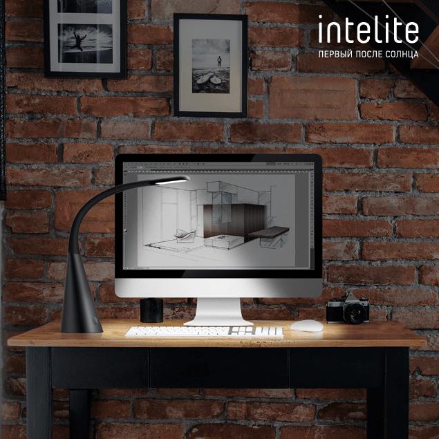 Настільний світильник Intelite Desklamp Iron Grey (DL4-5W-IGR)фото