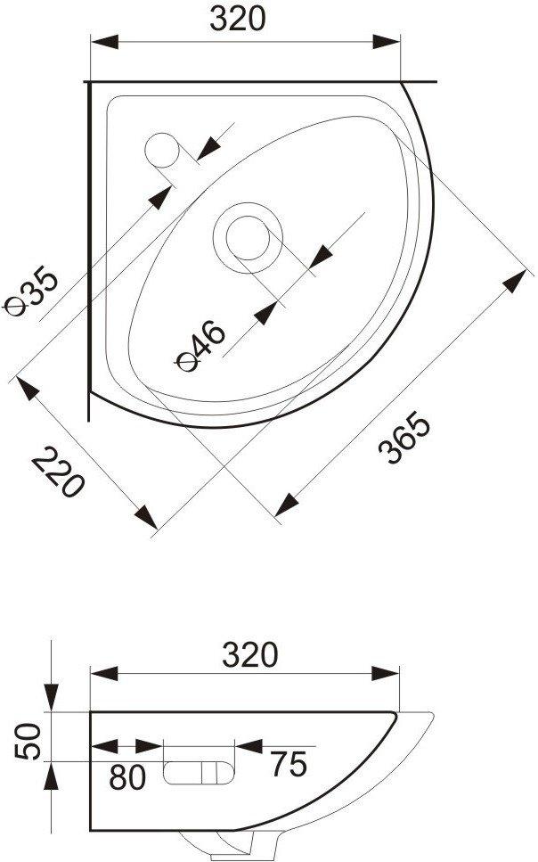Умывальник Cersanit Sigma (5907536605165) фото 2
