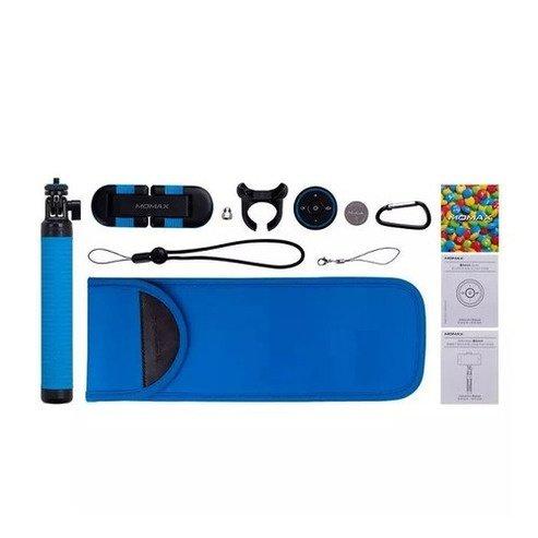Монопод для смартфона MOMAX Hero Bluetooth Selfie Pod 100cm Blue / Black (KMS7D)фото2
