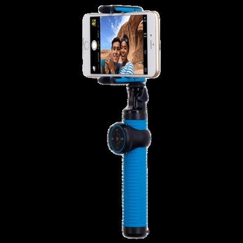 Монопод для смартфона MOMAX Hero Bluetooth Selfie Pod 100cm Blue / Black (KMS7D)фото4