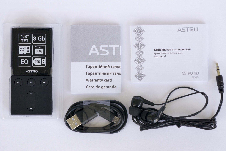 Мультимедіаплеєр ASTRO M3 8 Gb Blackфото9