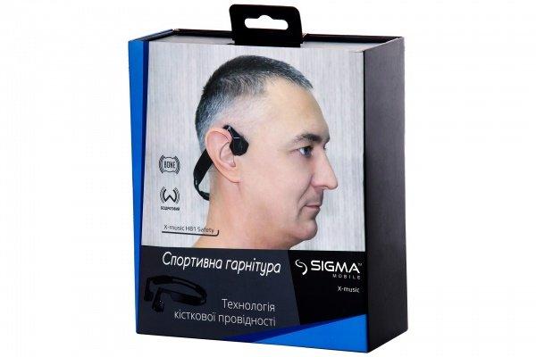 Наушники Bluetooth Sigma HEADSET X-MUSIC H81 SAFETY Black фото 4