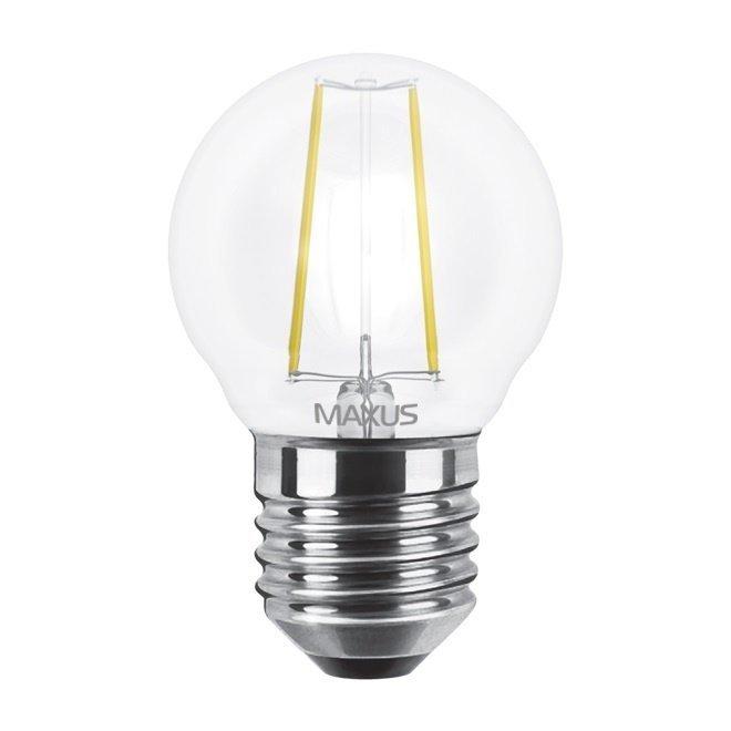 Светодиодная лампа MAXUS G45 FM 4W теплый свет 220V E27 (1-LED-545-01) фото 2