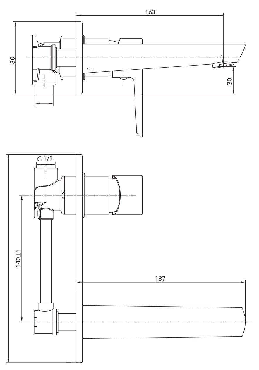 Смеситель для раковины IMPRESE BRECLAV VR-05245 фото