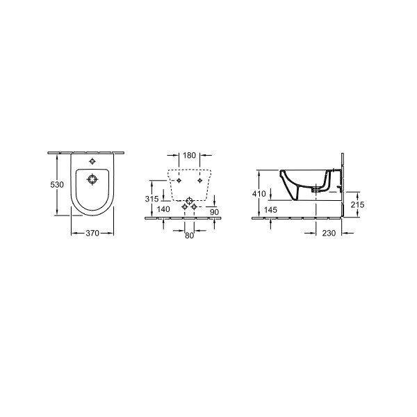 Подвесное биде Villeroy&Boch Omnia Architectura (54840001) фото 2