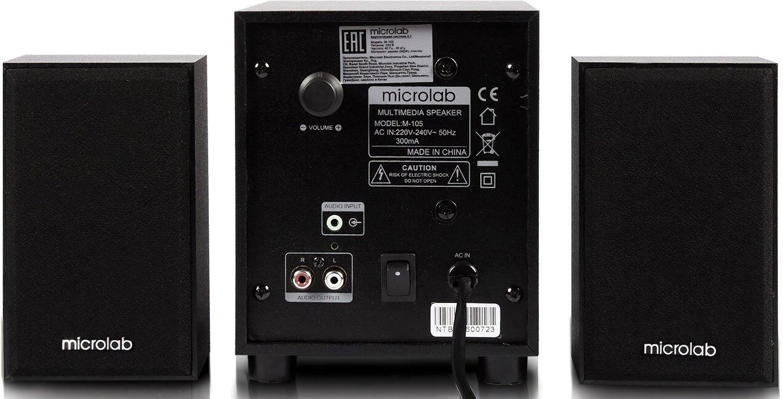 Акустична система 2.1 Microlab M-105R black (M-105R)фото4