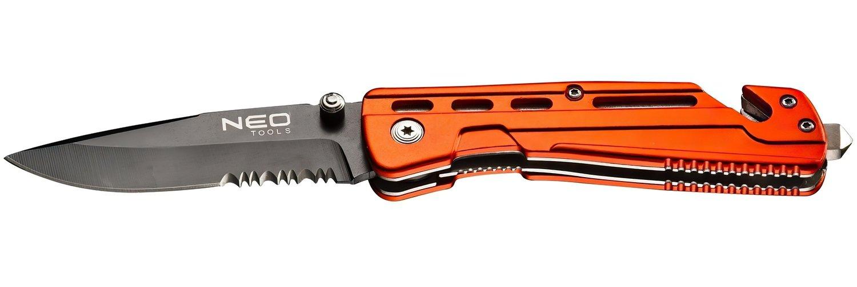 Нож строительный NEO с фиксатором (63-026) фото