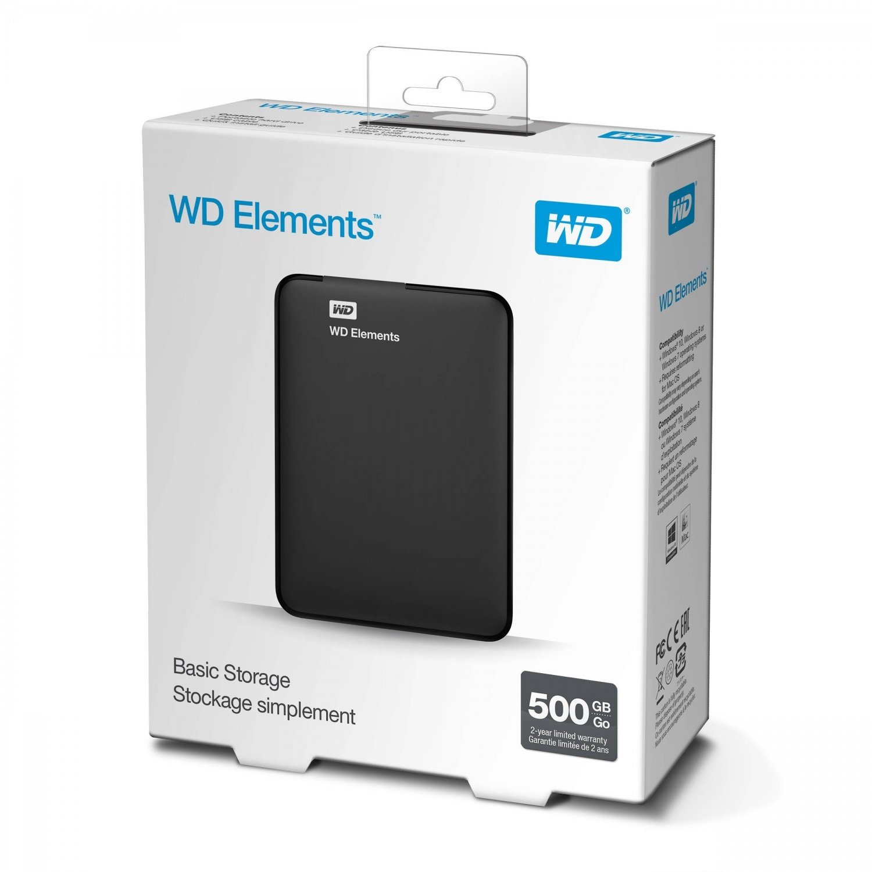 ≡ Жесткий диск WD Elements 500GB 2.5 USB 3.0 External Black ...