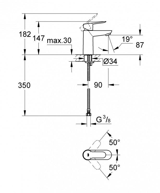 Набор смесителей GROHE BauEdge 123265S (23330000 + 32820000 + 27598000) фото 3