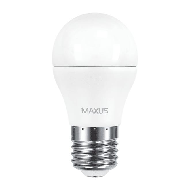 Комплект светодиодных ламп MAXUS G45 6W мягкий свет 220V E27 (по 2 шт.) (2-LED-541-P) фото 2