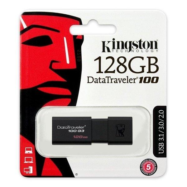 Накопичувач USB 3.0 KINGSTON DT 100 G3 128GB (DT100G3/128GB) фото3