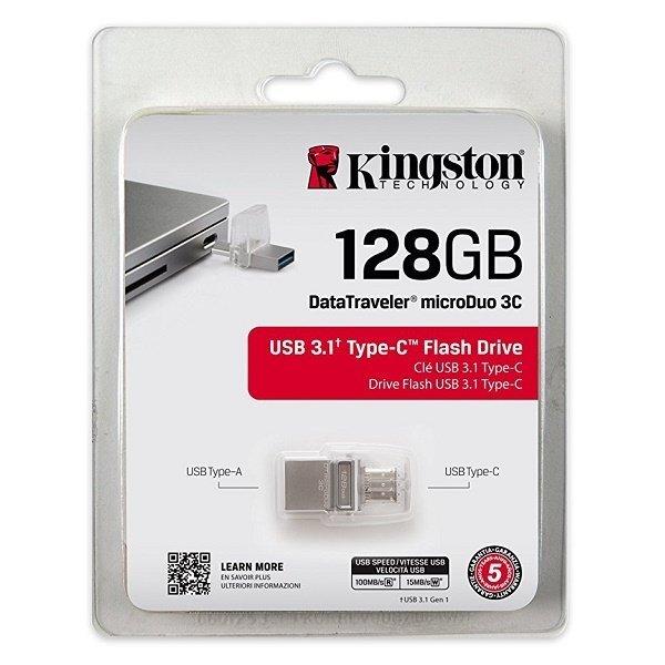 Накопичувач USB 3.1 KINGSTON DT MicroDuo 3C 128GB (DTDUO3C/128GB) фото4