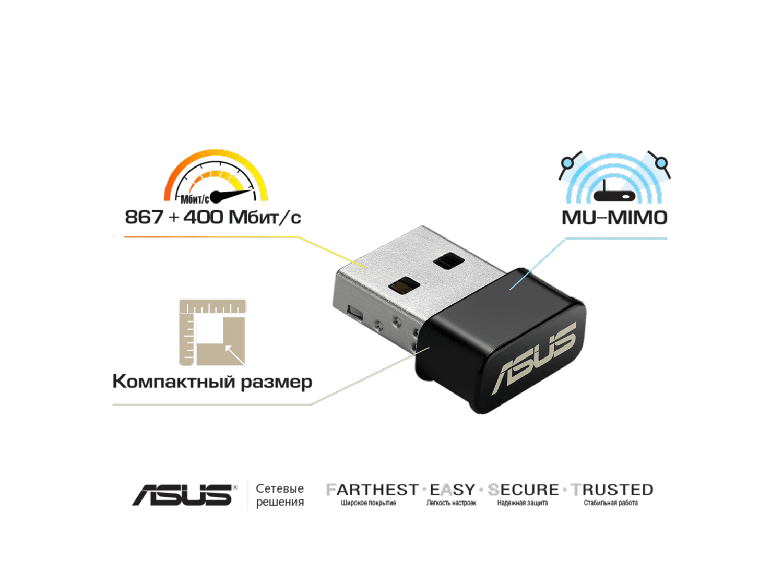 WiFi-адаптер ASUS USB-AC53Nanoфото4