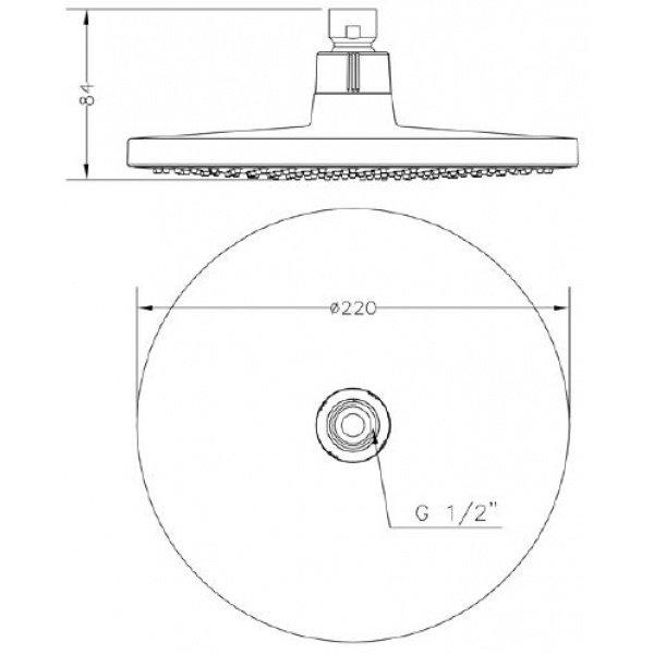 Верхній душ GENEBRE Tau-circle (R65112 18)фото2