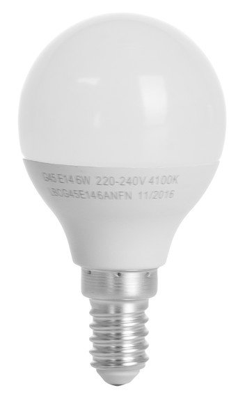 Светодиодная лампа ERGO Basic G45 E14 6W 220V 4100K (LBCG45E146ANFN) фото 2