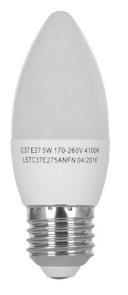Светодиодная лампа ERGO Standard C37 E27 6W 220V 4100K (LSTC37E276ANFN) фото 2