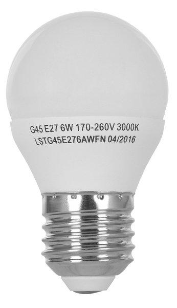 Светодиодная лампа ERGO Standard G45 E27 6W 220V 3000K (LSTG45E276AWFN) фото 3