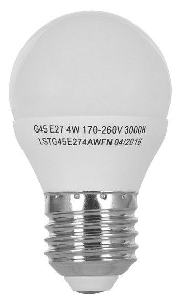 Світлодіодна лампа ERGO Standard G45 E27 4W 220V 3000K (LSTG45E274AWFN) фото2