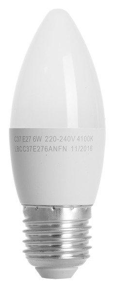 Светодиодная лампа ERGO Basic C37 E27 6W 220V 4100K (LBCC37E276ANFN) фото 2