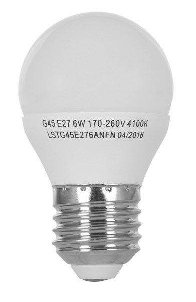 Светодиодная лампа ERGO Standard G45 E27 6W 220V 4100K (LSTG45E276ANFN) фото 2