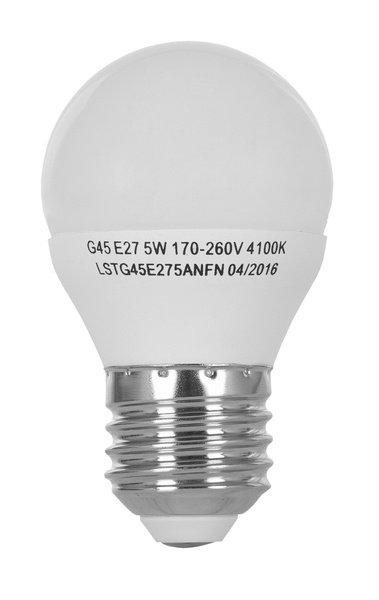 Светодиодная лампа ERGO Standard G45 E27 5W 220V 4100K (LSTG45E275ANFN) фото 2