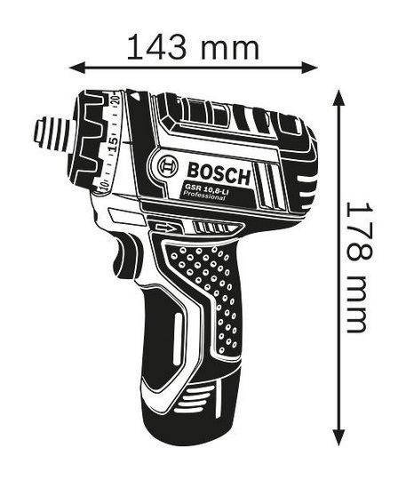 Акумуляторний шуруповерт Bosch GSR 10.8-LI (без акумулятора і зарядного пристрою) (0601992901) фото