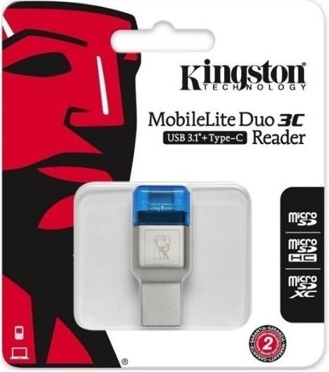 Кардридер Kingston USB 3.0 microSD USB Type A/C (FCR-ML3C) фото